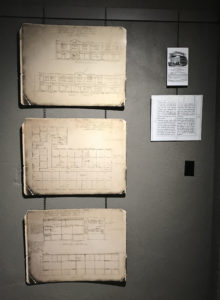 Blueprint and Vault Interpretive Panels